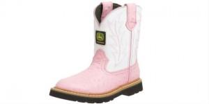 Pink John Deere Boots For Kids