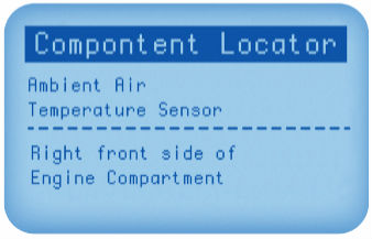 Component Locator Screen View
